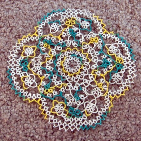Yellow and Green Doily