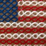 Split Ring American Flag Closeup