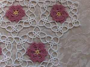 Rose Garden Doily Closeup