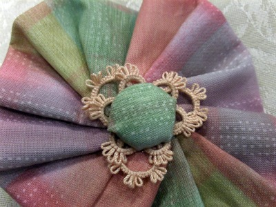 Tatted Hair Barrette Decoration Closeup