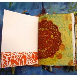 fabric journal page by robruhn