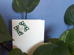 Green Celtic Motif Card
