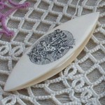 Shuttle on Tatted Doily